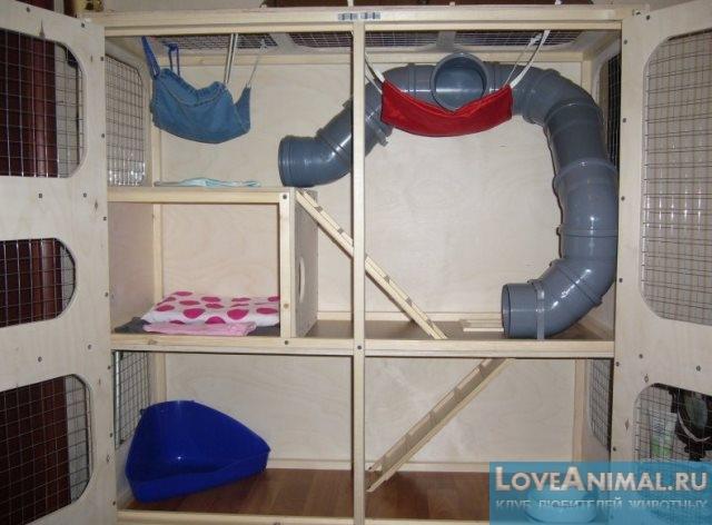 Схема домик для крысы
